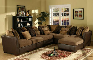 Living Room Antique Furniture Fabric Corner Sofa Couchs pictures & photos