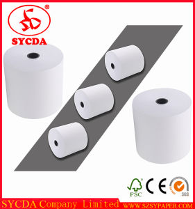 Pure White Thermal Paper Roll for ATM, POS pictures & photos