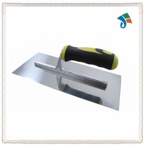 2-Color Soft TPR Handle Stainless Steel Plastering Trowel pictures & photos