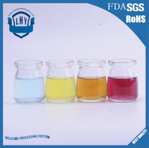 Lead Free High Temperature Resistant Glass Pudding Bottle/Pudding Jar/Jelly Cup/Yogurt Jar