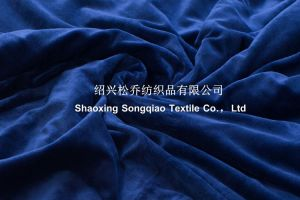Mink with Shu Velveteen Sherpa Fleece Blanket / Baby Blanket-Dark Blue pictures & photos