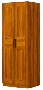 2 Doors Wardrobe Padauk Wood Color Bedroom Wardrobe pictures & photos
