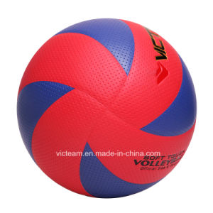 Vibrant Color Deflated Various Size PU Volleyball pictures & photos