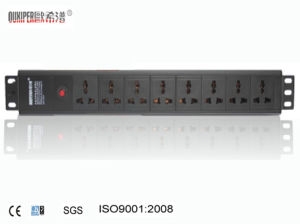 Oxp-1.5u High Quanlity Universal Socket with 8-Way Switch PDU pictures & photos