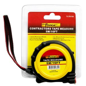 5m Steel Tape Measure with Nylon Coated Dual Blade and Magnetic Hook pictures & photos