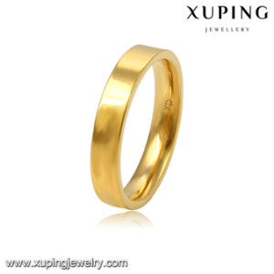 13935 Fashion Jewelry 24k Gold Plated Alloy Finger Ring in Simple Plain Deisgn pictures & photos