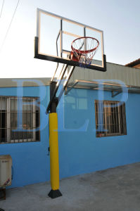 Entertainment Tempered Glass Backboard Height Adjustable Basketball System pictures & photos