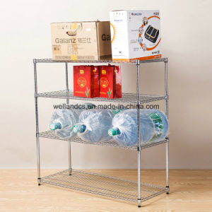 Mobile Chrome Steel Wire Retail Shelf Rack pictures & photos