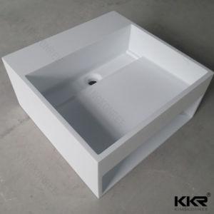 Custom Solid Surfa⪞ E Stone Resin Bathroom Wash Basin pictures & photos