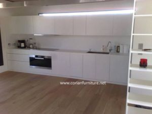 White LG Hi Macs and Corian Solid Surface Countertop Made in China pictures & photos