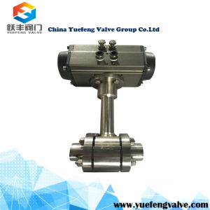 Pneumatic Actuator Stainless Steel Cryogenic Floating Ball Valve pictures & photos