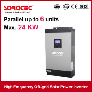 5kVA 48VDC Transformerless DC to AC Inverters with 50A PWM Solar Charger 6PCS Parallel pictures & photos