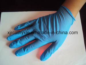 Disposable Nitrile Glove Blue Color or Black Color with High Quality pictures & photos