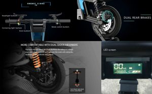 Folding Electric Bike/Lithium Battery Bicycle/12 Inch Ebike/Fat Tire Scooter pictures & photos