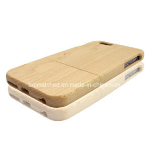 Smooth Natural Wood Phone Case Two Parts Maple Wood Cell Phone Accessories for Christmas Gift pictures & photos