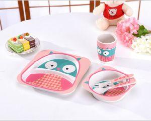 BPA Free Eco Bamboo Fiber Kids Dinnerware Set (YK-KS0011) pictures & photos