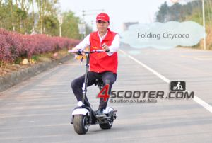 800W Motor Touch LCD Screen Folding Electric Scooter pictures & photos