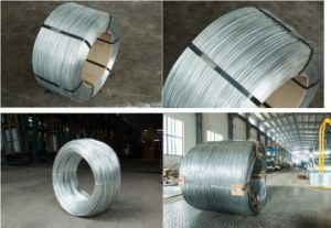 Hot DIP / Electro Galvanized High Carbon Galvanized Steel Wire 0.45mm pictures & photos