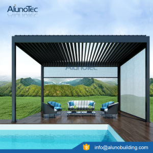 Motor Aluminum Patio Roof Pergola with Side Screen pictures & photos