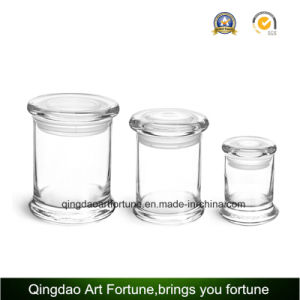 Hot Sale Glass Candy Candle Jar with Lid Food Storage pictures & photos