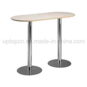 Wholesale Cast Iron High Bar Table with Double Legs and HPL Table Top (SP-BT661) pictures & photos