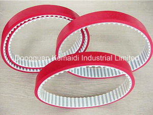 Truly Endless Timing Belt Coating Red Rubber on Back Side pictures & photos