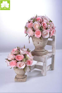 Artificial Rose Bouquet in Cement  Urn for Gift pictures & photos