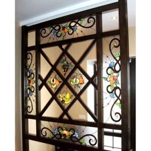 China Supplier Modern Design Patterns Shower Door Stained Glass Window pictures & photos