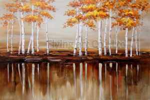 Handmade Reproduction Impression Oil Painting for Trees pictures & photos