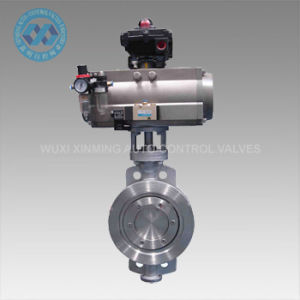 Double Eccentric Sealing Metal Sealed Pneumatic Butterfly Valve pictures & photos
