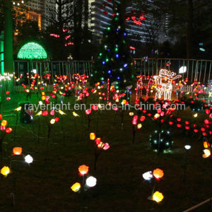 Holiday Artificial Flower LED Solar Light Garden Decoration pictures & photos