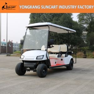 4+2 Seater Golf Cart, Ce Approved, 6 Seater Golf Car with Rear Flip Seater pictures & photos