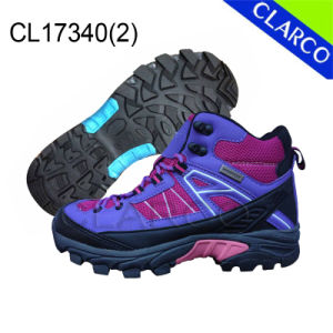 Women Outdoor Safety Hiking Shoes with Rubber Sole pictures & photos