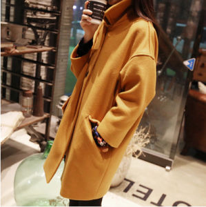 Fashion Cheap Ladies Long Fleece Coat pictures & photos