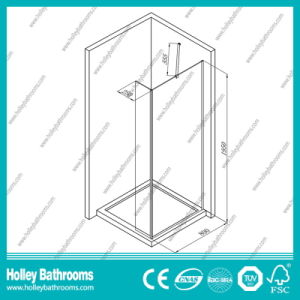 Hot Selling Shower Walk-in Door with Tempered Laminated Glass (SE926C) pictures & photos