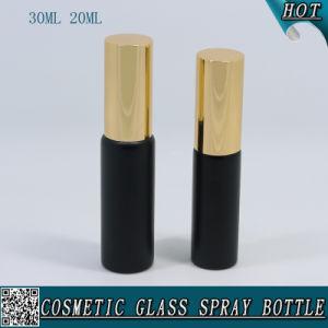 20ml 30ml Matt Black Glass Spray Vial Tube Bottle with Aluminum Sprayer for Perfume pictures & photos
