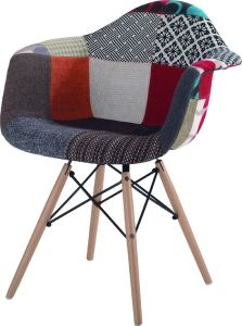 Artistic Fabric Chair with Solid Wood Leg (PC-018WB)