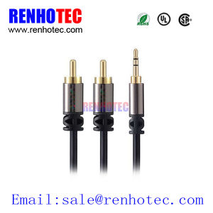 High Quality 3.5mm to 2 RCA Stereo Audio Cable pictures & photos