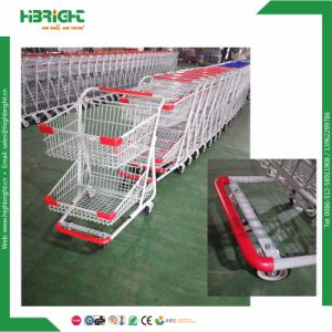 Two Tier Supermarket Grocery Shopping Carts pictures & photos
