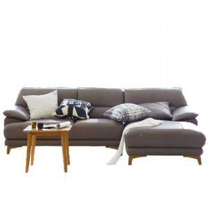 Living Room Leather Sofa with Ottoman pictures & photos