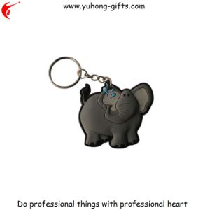 Custom 3D Keyring PVC Elephant Keyring for Gifts (YH-KC163) pictures & photos
