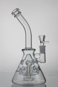 Glass pipes Water pipes Like a Beaker with Little Perc and Thickness Mouthpiece