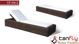 Handmade Outdoor Luxury Round PE Rattan Lounger Chair
