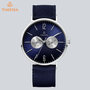 Men′s Classic Wristwatch with Blue Nylon Band 72674 pictures & photos