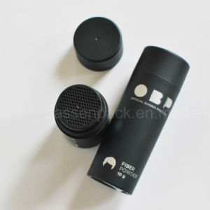 100ml Matte Black Plastic Bottle for Hair Fiber Powder (PPC-PB-1701) pictures & photos