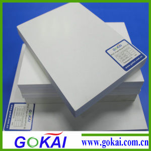 122 X 220 Cm X 3mm PVC Foam Board with. 55 Density with Doubble Sie PE Film pictures & photos