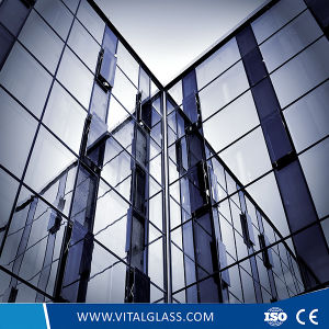 Golden Reflective Glass/Tempered Glass/Laminated Glass/Patterned Building Glass/Clear Float Figured Glass pictures & photos
