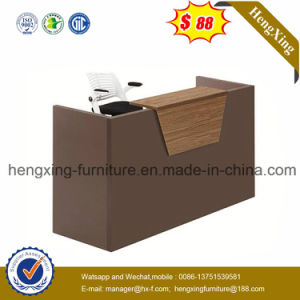 China Cheap Price Office Furniture Walnut Front Counter Reception
