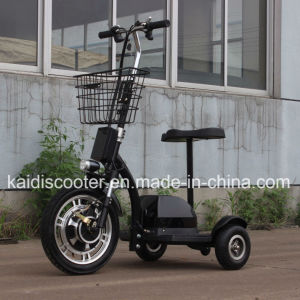 High Quality 3 Wheels Electric Sightseeing Vehicle Mobility Electric Zappy Scooter 36V 350W pictures & photos