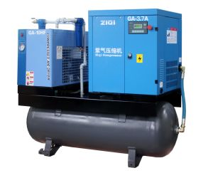 Compact Mounted Screw Type Air Compressor for Sale pictures & photos